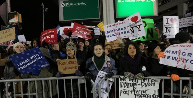 USA: Des manifestations dans plusieurs villes contre le décret anti-réfugiés