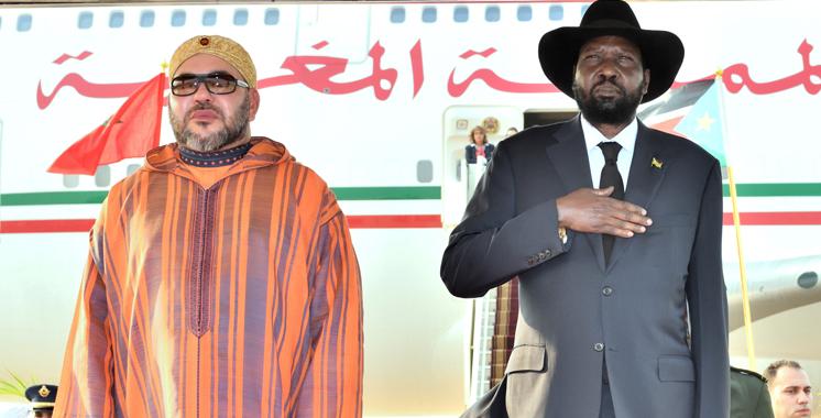 SM le Roi entame une visite officielle en République du Soudan du Sud