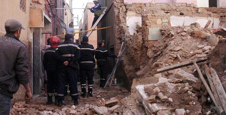 Marrakech : Trois morts dans l'effondrement d'une maison