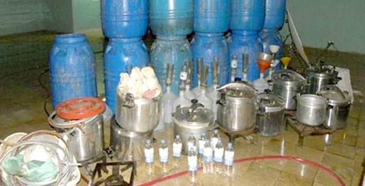 Démantèlement d'une usine de fabrication d'eau-de-vie à Sidi Bennour