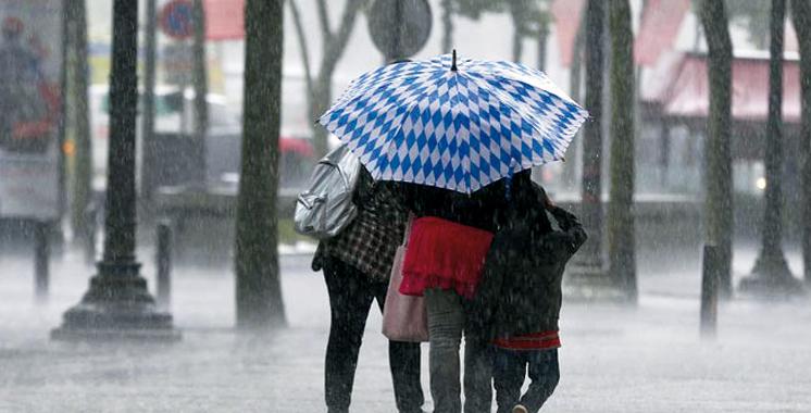 Alerte météo : Fortes pluies et puissantes rafales de vent dimanche et lundi