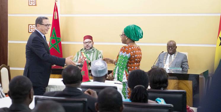 Maroc-Ghana: Signature de 25 accords bilatéraux