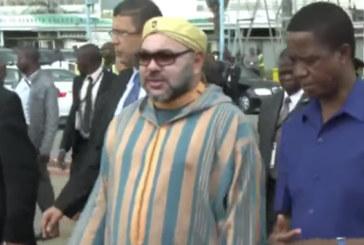 Vidéo : Le roi Mohammed VI quitte la République de Zambie