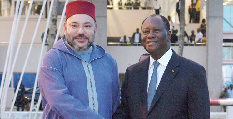 Le Souverain effectue une visite de travail et d'amitié en Côte d'Ivoire