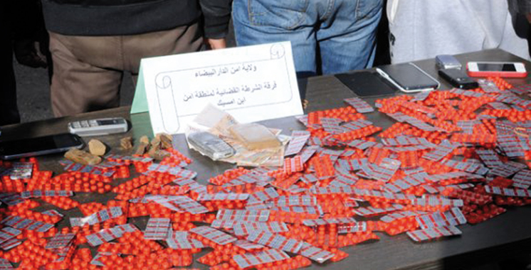 Casablanca : 5 individus arrêtés en  possession de près de 4.000 comprimés psychotropes