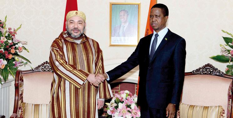 SM le Roi invite le président zambien à effectuer une visite officielle au Maroc