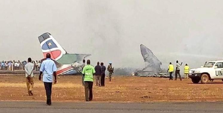 Un avion s'écrase au Soudan du Sud: au moins 14 blessés