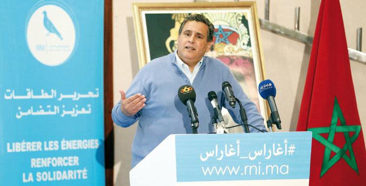 Aziz Akhannouch en meeting à Ifrane: La feuille de route du RNI pour un fonctionnement à long terme