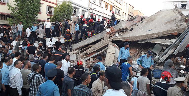 Effondrement d'un immeuble à Sbata: Des peines allant de 10 mois à 5 ans  de prison ferme