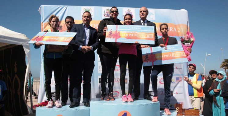 Course féminine en hommage à Feu Miloud Chaabi: Oumaima, Benhanya, et Taloub sur le podium