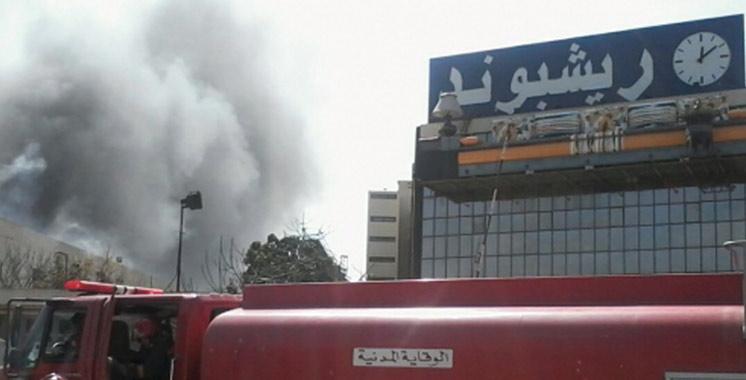 Un incendie dans les ateliers de Richbond à Casablanca
