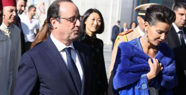 Paris : Lalla Meryem et François Hollande inaugurent l'exposition «Splendeurs de l'écriture au Maroc, Manuscrits rares et inédits»
