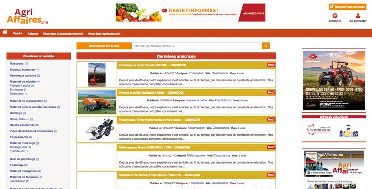 Matériel agricole: «AgriAffaires.ma», premier site de petites annonces