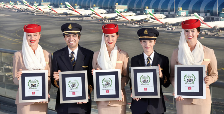 Concours: TripAdvisor Traveller's Choice Awards : Emirates meilleure compagnie aérienne