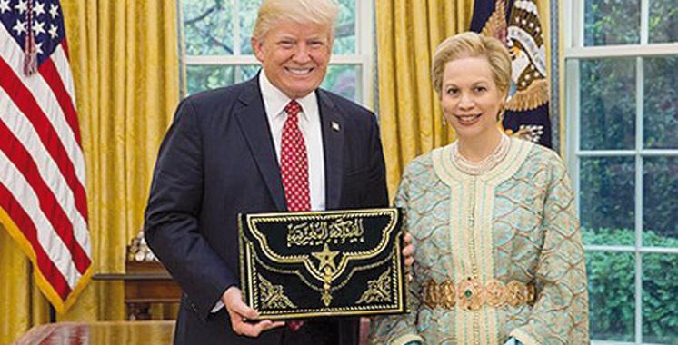Chrifa Lalla Joumala reçue par Donald Trump
