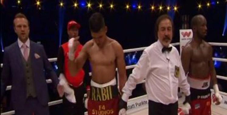 Boxe : Rabii s'impose face au Belge Habimana