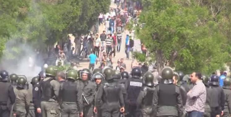 Vidéo : Violents affrontements entre policiers et étudiants à Fès