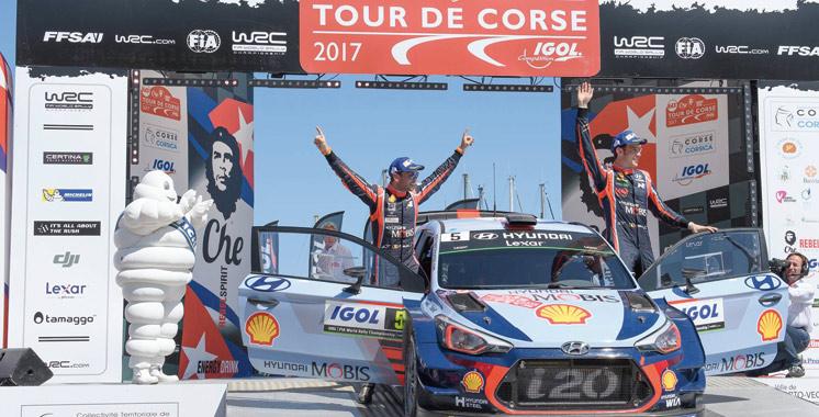 En remportant le tour de Corse WRC: Hyundai Motorsport réalise un double podium