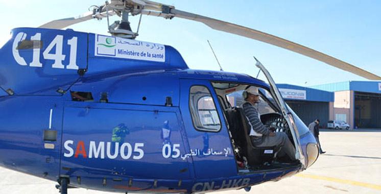 Evacuation hélicoptée : Deux  personnes  sauvées à Nador