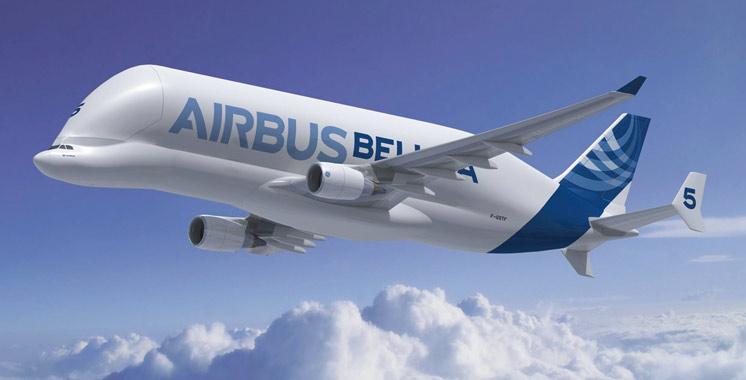 Aérien : Début du montage  de l'avion BelugaXL