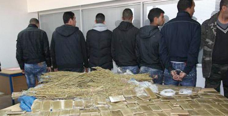 3 trafiquants de drogue arrêtés  à Tanger et 3 autres condamnés  à Safi et Imintanout