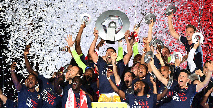 Monaco sacré champion de France de football