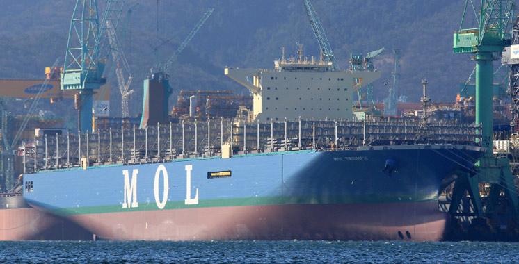 MOL Triumph, le plus gros  porte-conteneurs au monde, fait  escale à Tanger
