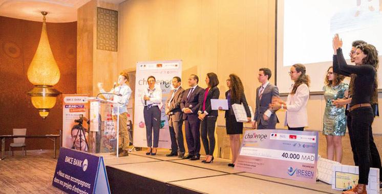 Remise à Casablanca des prix du Challenge franco-marocain de l'entrepreneuriat