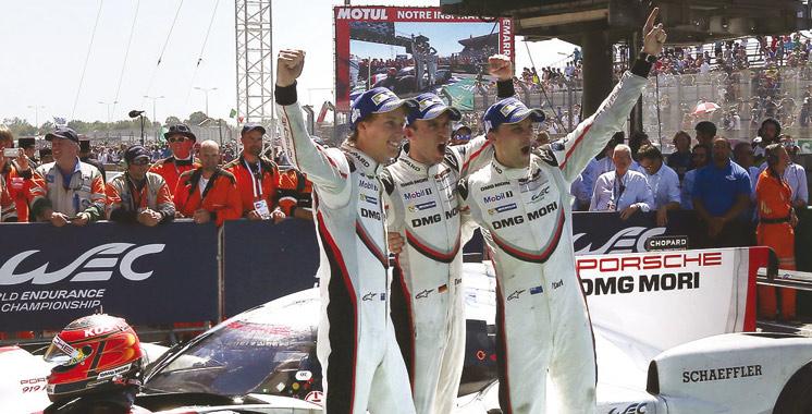 24 Heures du Mans: La Porsche de Bamber-Bernhard-Hartley remporte la 85è édition