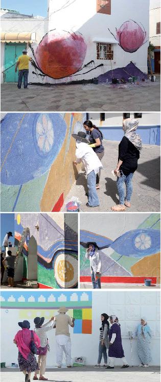 Journaux du maroc et revue de presse des principaux for Nouvelle peinture murale