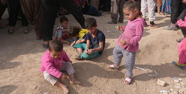 Irak : 100.000 enfants menacés par l'aggravation du conflit dans l'ouest de Mossoul