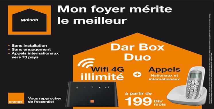 La nouvelle offre internet illimitée  à la maison: Orange lance  «Dar Box Duo»