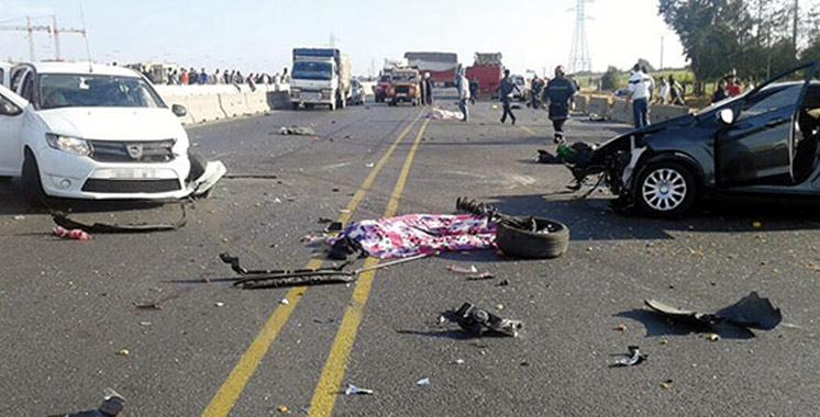 Accidents de la circulation : 19 morts  et 1.836 blessés en une semaine