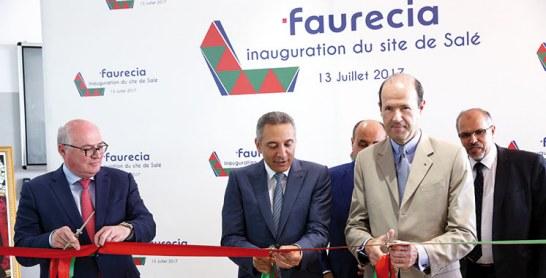 Industrie : Le Groupe français Faurecia inaugure  à Salé une nouvelle usine