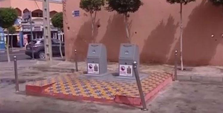 Vidéo : Les poubelles nouvelles générations enterrées de Laâyoune