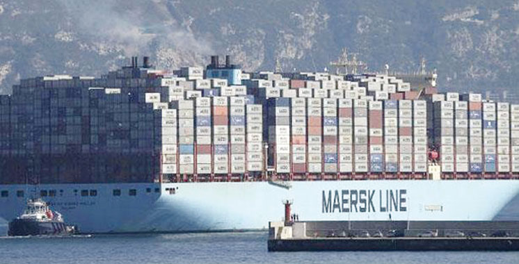 Le géant porte-conteneurs danois «Munich Maersk» en route vers le Maroc
