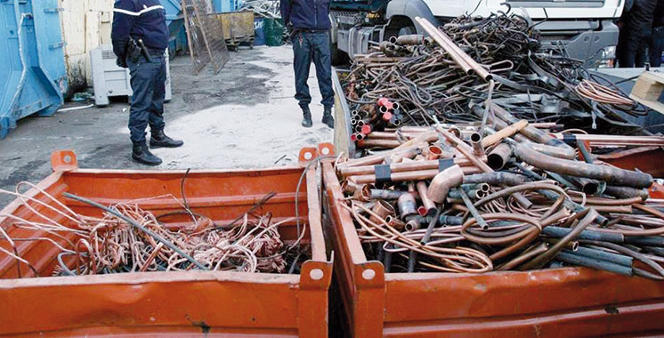 Had Soualem : Saisie d'une tonne de cuivre volée et arrestation de 3 suspects