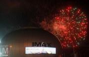 Feux d'artifice au Morocco Mall à l'occasion de la fête du trône