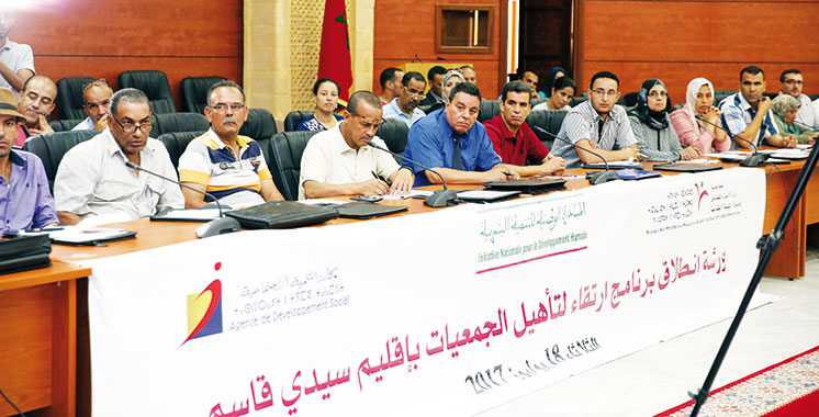 Promotion  des associations: Lancement officiel du programme «Irtikaa» dans  la province de  Sidi Kacem