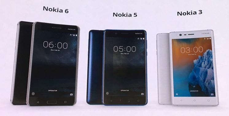 De nouveaux smartphones Nokia disponibles sur  le marché national