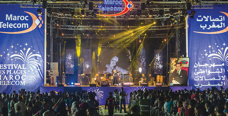 The Maroc Telecom Beach Festival is coming to an end