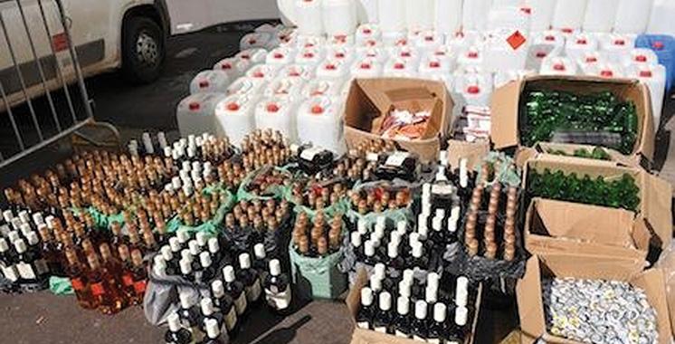 Laâyoune: Plus de 2.270 bouteilles de boissons alcoolisées saisies