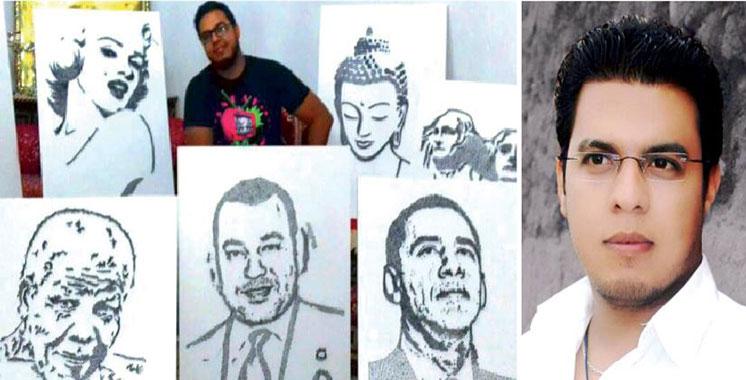 Des clous «donnent du charme» aux toiles de Salah Eddine Boukadir