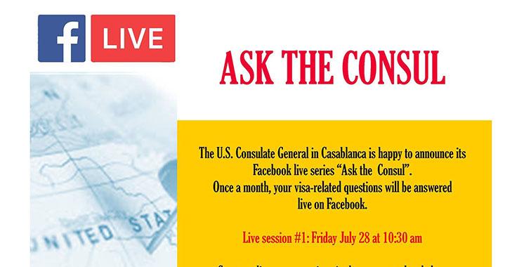 Ça se passera vendredi à 9h : «Ask the consul» en live sur Facebook