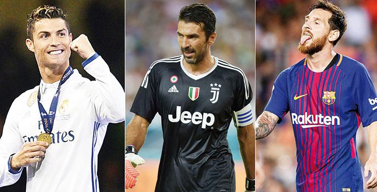 Meilleur joueur de l'UEFA : Buffon, Ronaldo et Messi en course