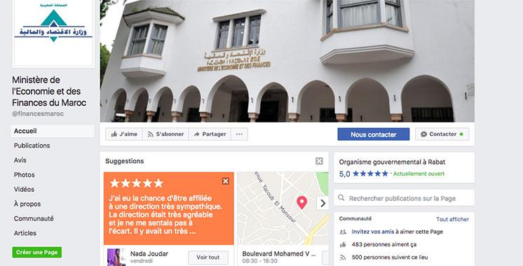 Le ministère des finances sur Facebook