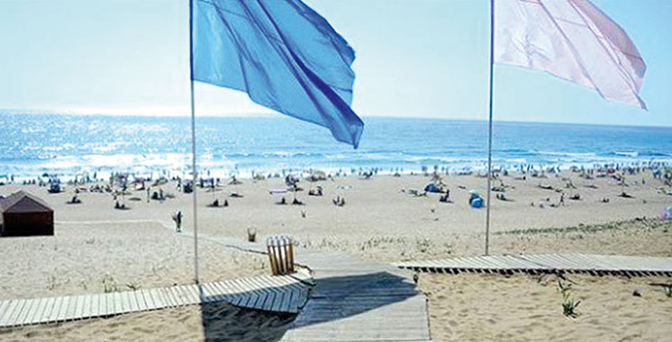 Laâyoune : Le «Pavillon bleu» hissé pour la 10e année consécutive sur la plage de Foum El Oued