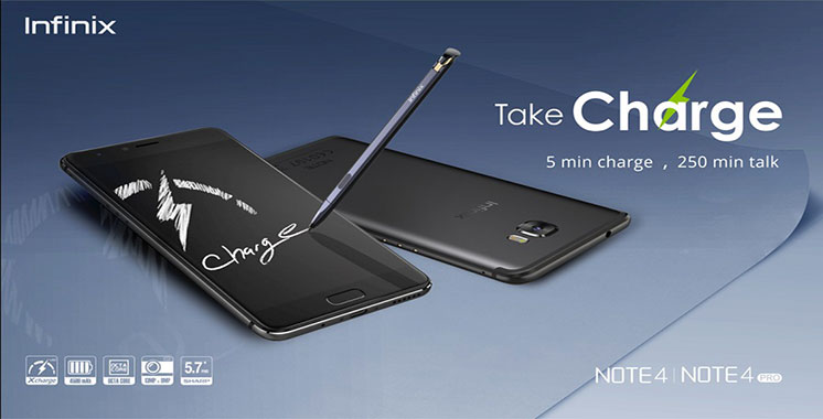 Note 4 et Note 4 pro : Les deux derniers modèles Inifinix lancés