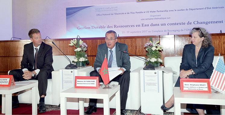 Gestion durable des ressources et changement climatique: L'expérience américaine mise en relief  à Rabat
