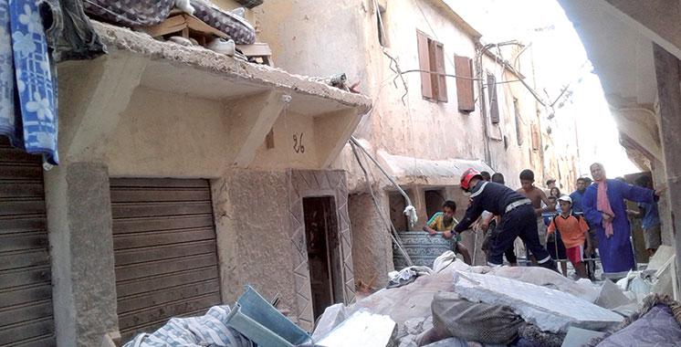 Casablanca : Effondrement d'un immeuble de trois étages dans l'ancienne médina